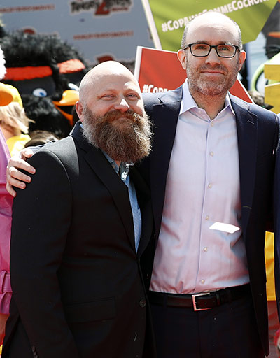 Director Thurop Van Orman and producer John Cohen at the Cannes Film Festival. Photo courtesy of Sony Pictures Animation.