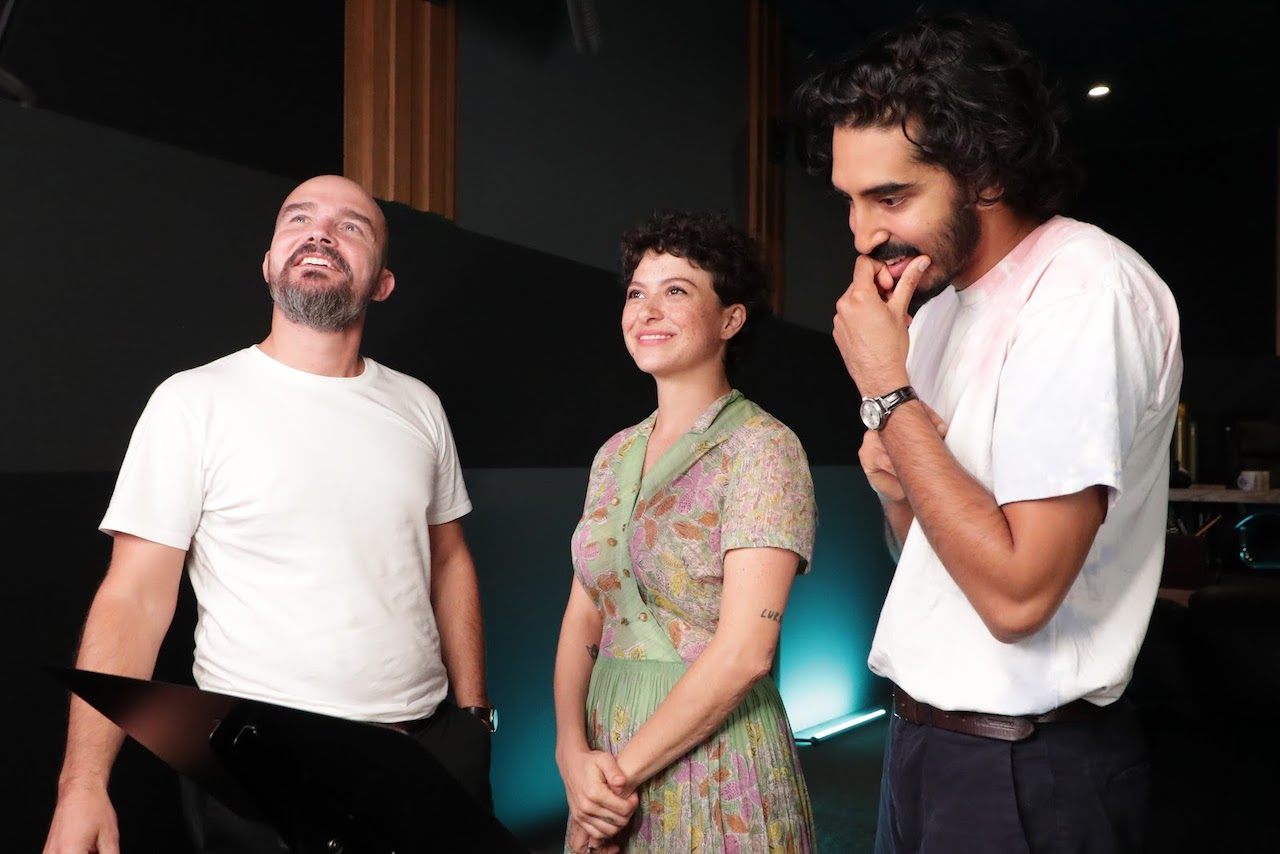 (Left to right) Jeremy Clapin, Alia Shawkat, and Dev Patel.
