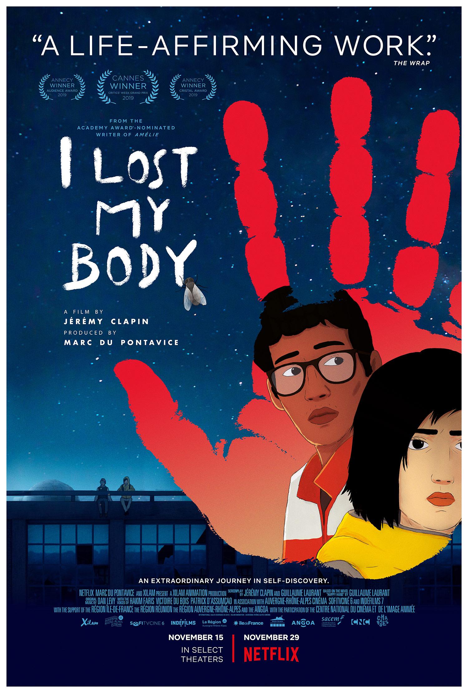 """I Lost My Body"" U.S. poster."