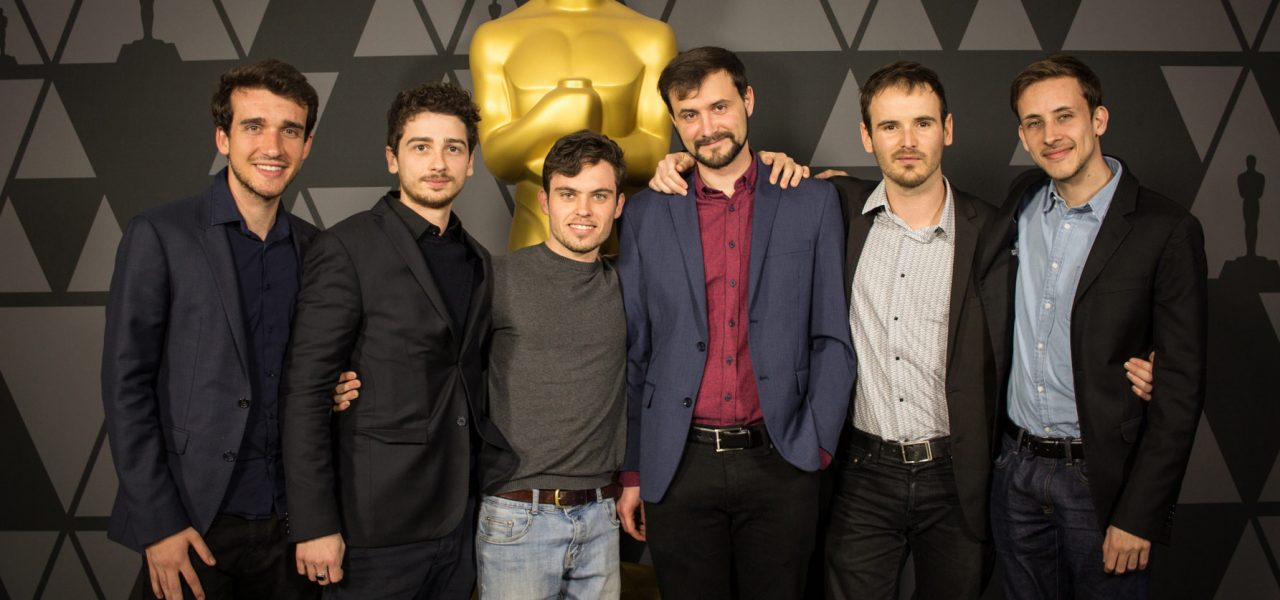 The six French artists who make up the Illogic animation collective.