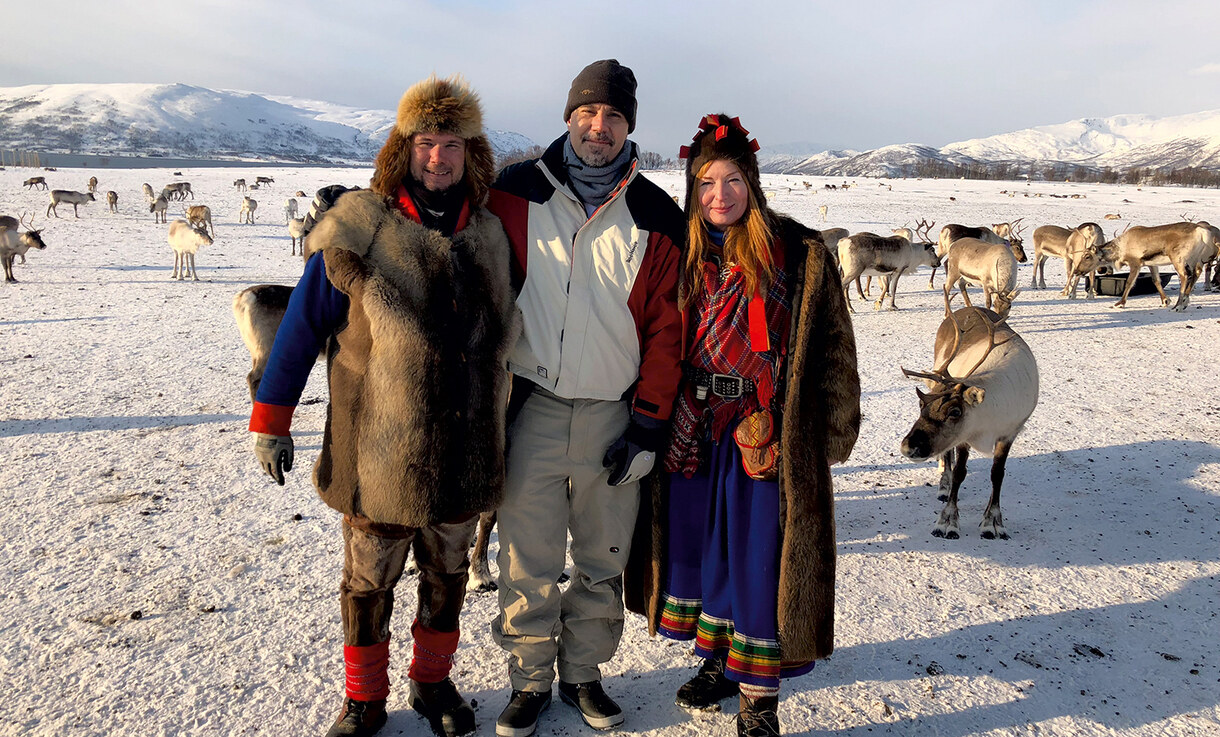Sergio Pablos with Saami people on a research trip.