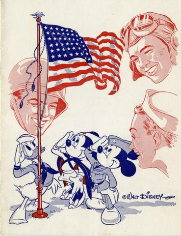 Masquer's Servicemen's Morale Corps program card drawn by Hank Porter, 1944.