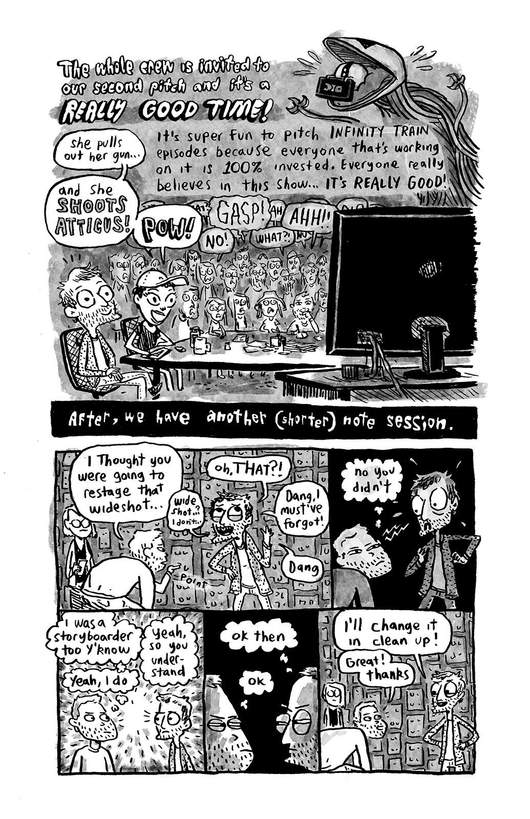 Infinity Train comic by Sam Spina