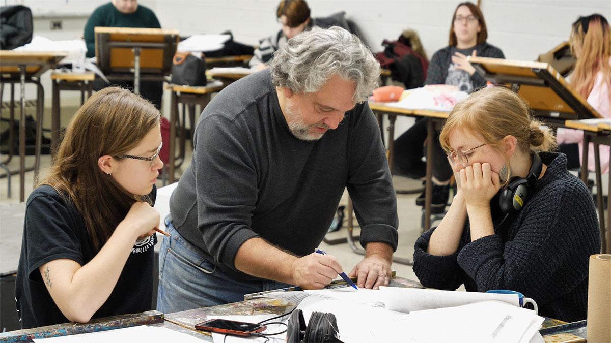A class at Animation Vieux Montréal.