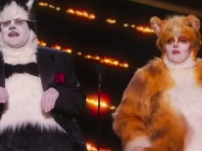 """Cats"": James Corden, Rebel Wilson"