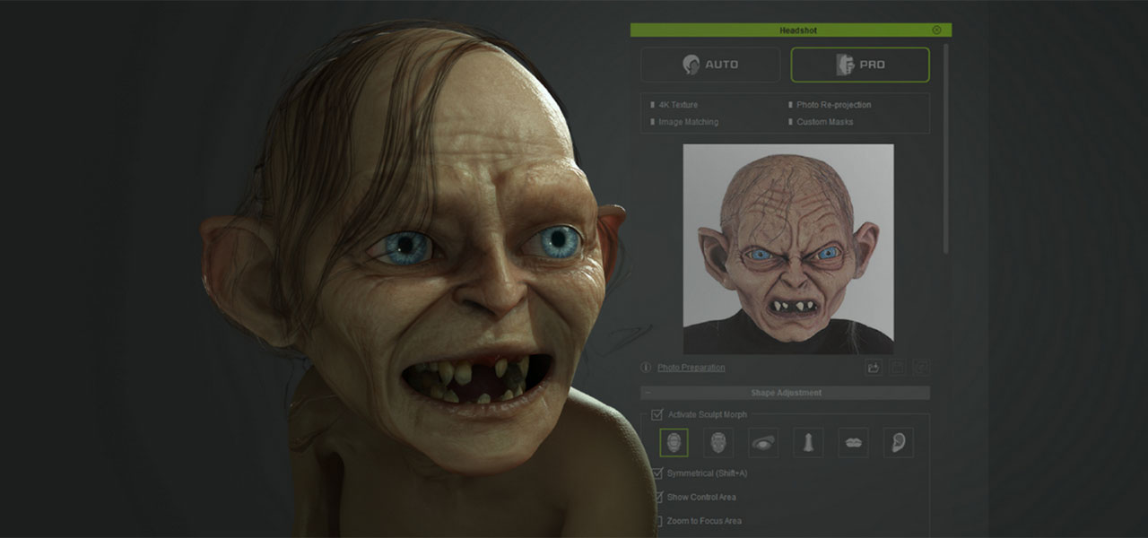 Generating A 3D Animated Gollum From A Single Photo