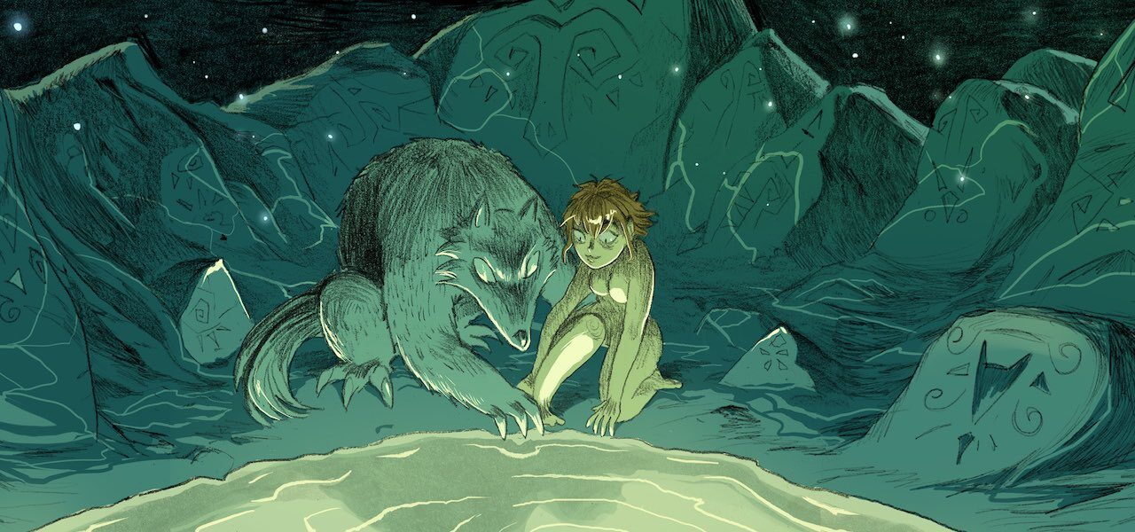 """""""Girl and Wolf"""""""