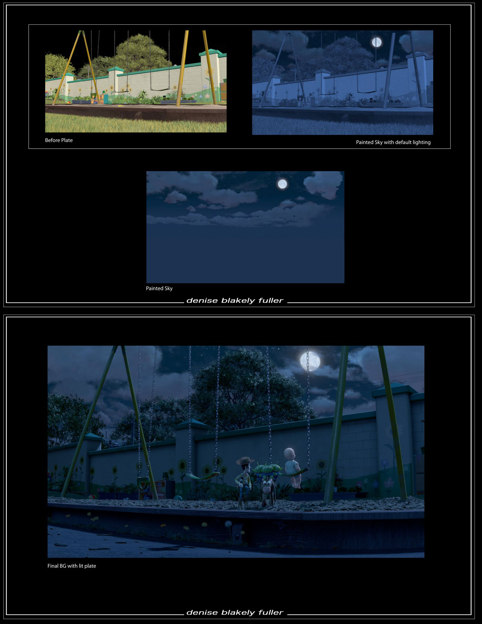 """Matte painting by Blakely Fuller for Disney/Pixar's """"Toy Story 3"""" (2010)."""