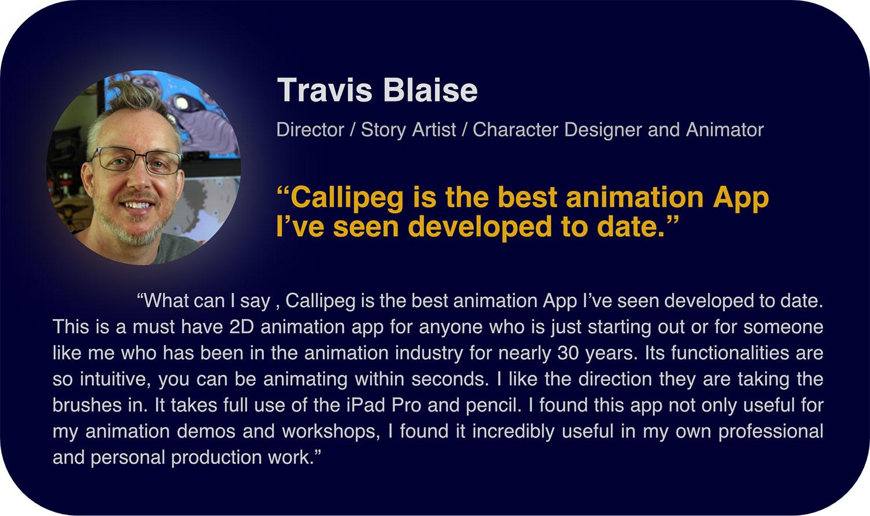 Travis Blaise em Callipeg