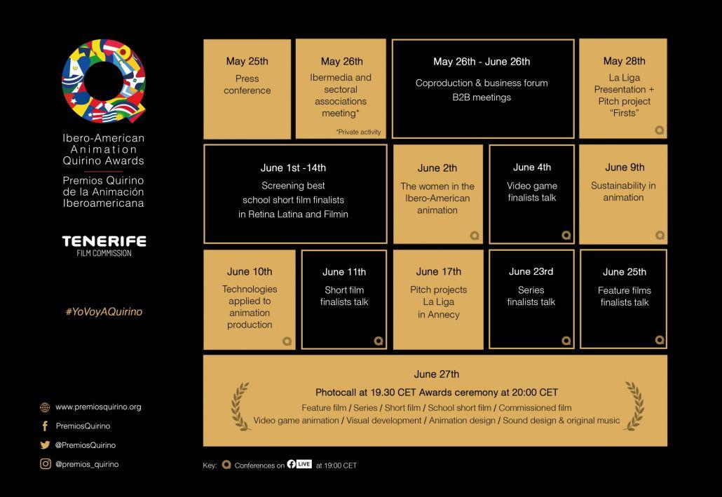 Quirinos 2020 schedule