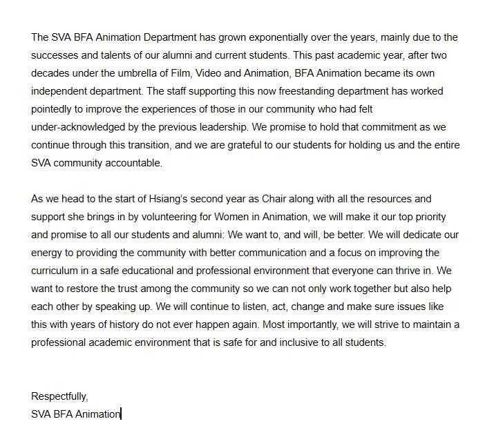 Don Poynter, SVA statement