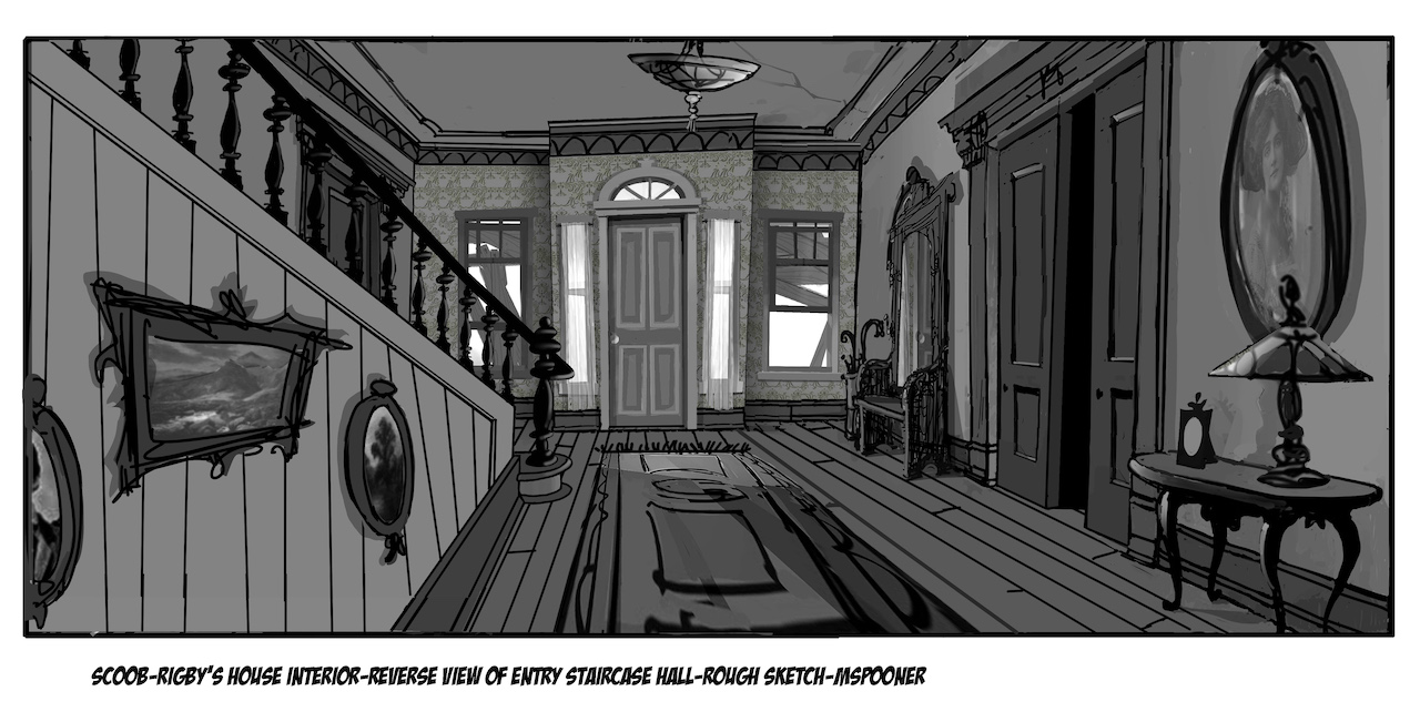 """Scoob!"" interior rough sketch"""
