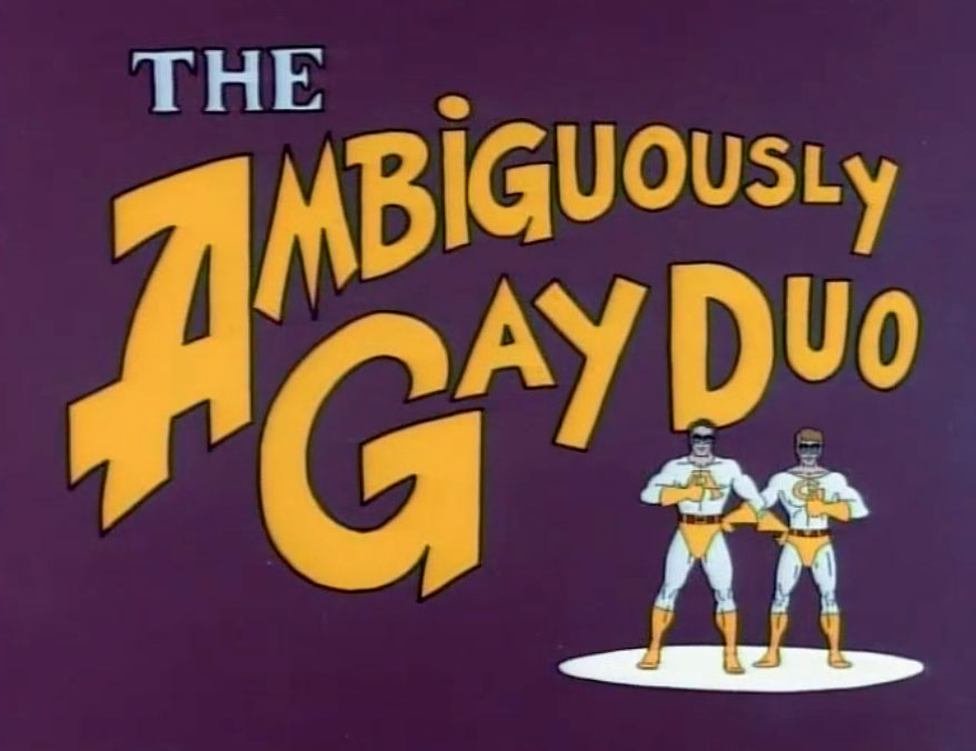 """""""The Ambiguously Gay Duo"""" created for """"Saturday Night Live"""" in 1996."""