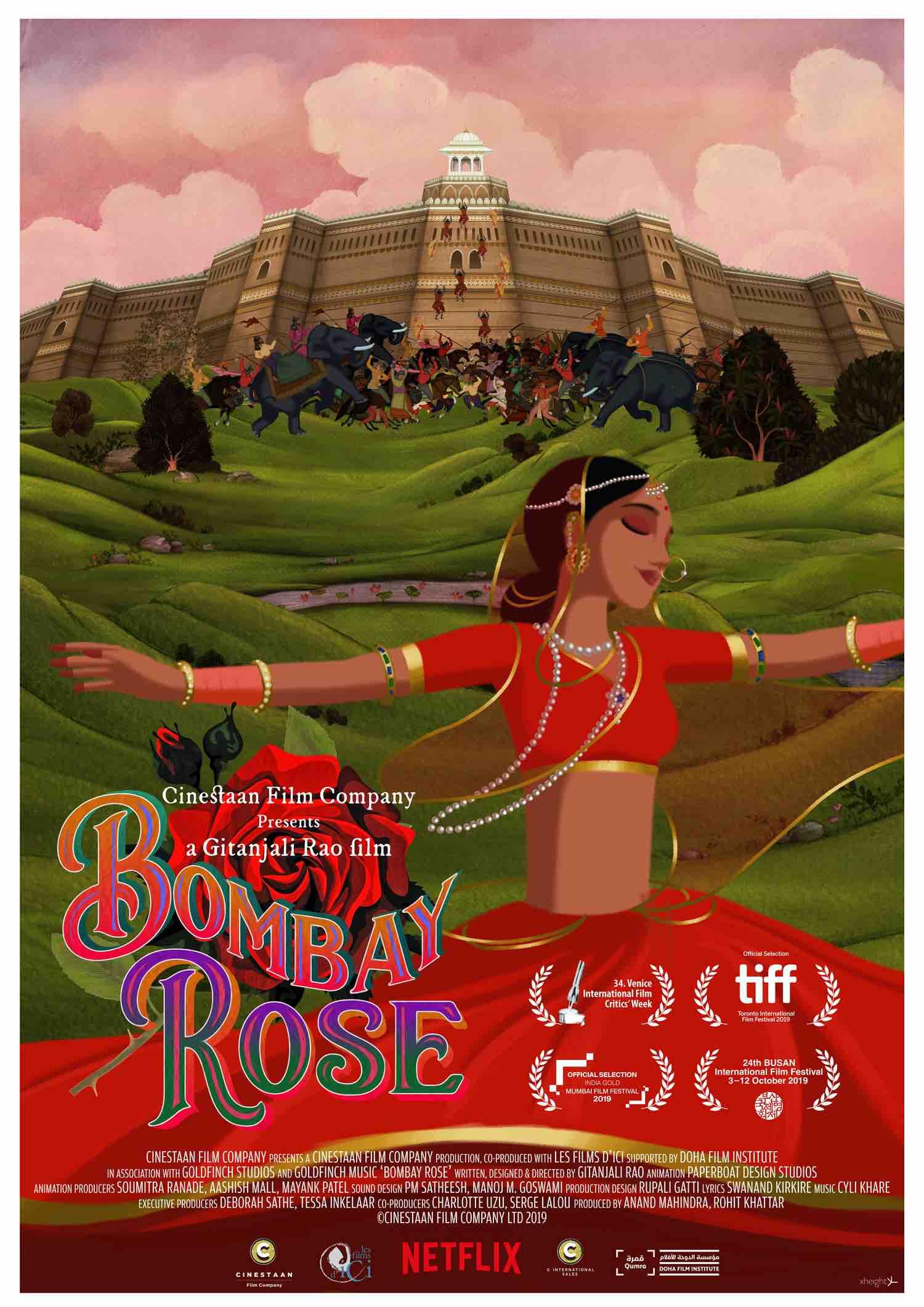 """Bombay Rose"" poster"