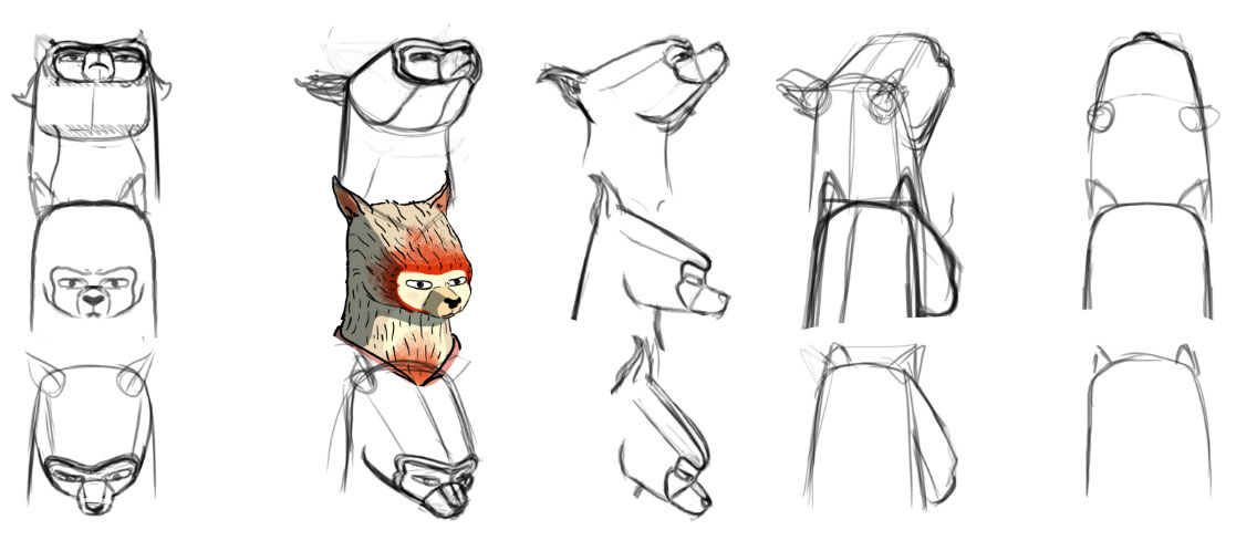 "Rough head rotations for for ""Every Creative Dream"" by Gonzalo Azpiri."
