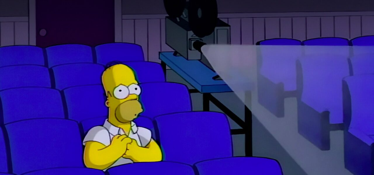 Homer in the cinema