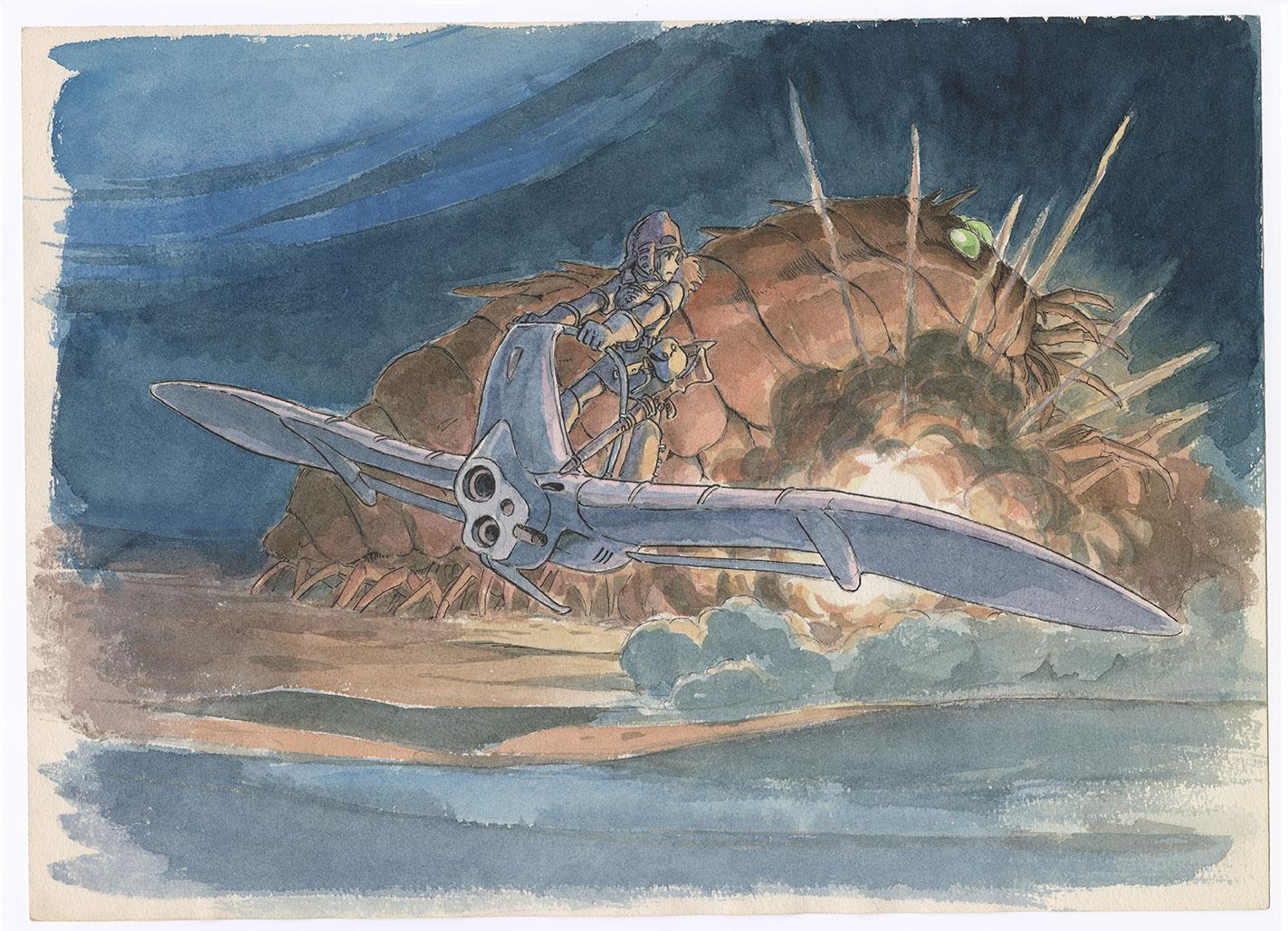 "Imageboard by Hayao Miyazaki, ""Nausicaä of the Valley of the Wind."""