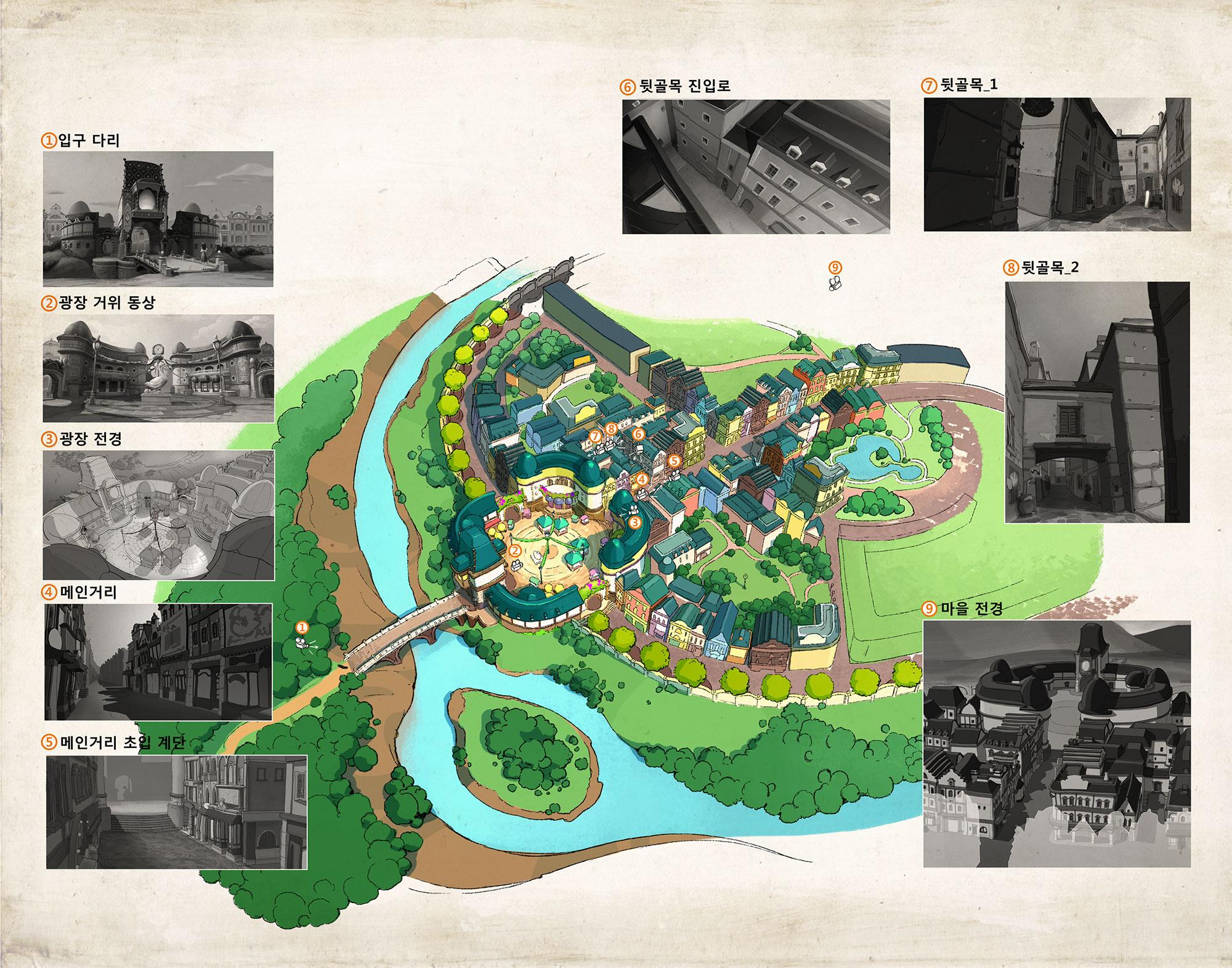 Design of the Golden Goose town by Yeonok Baek.