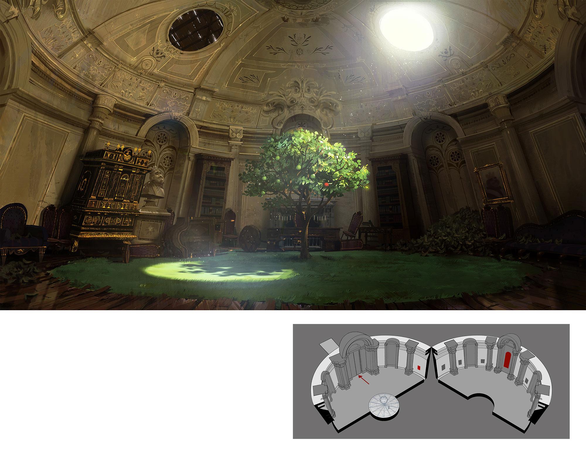 Castle rotunda design by Remi Salmon.