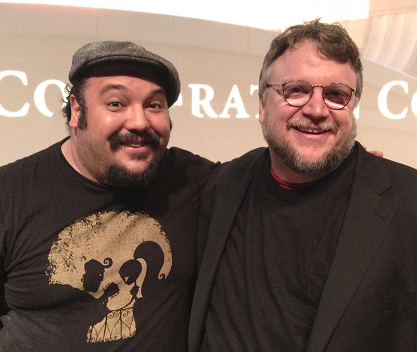 Jorge Gutierrez with the film's producer Guillermo del Toro. Photo by Brad Booker.