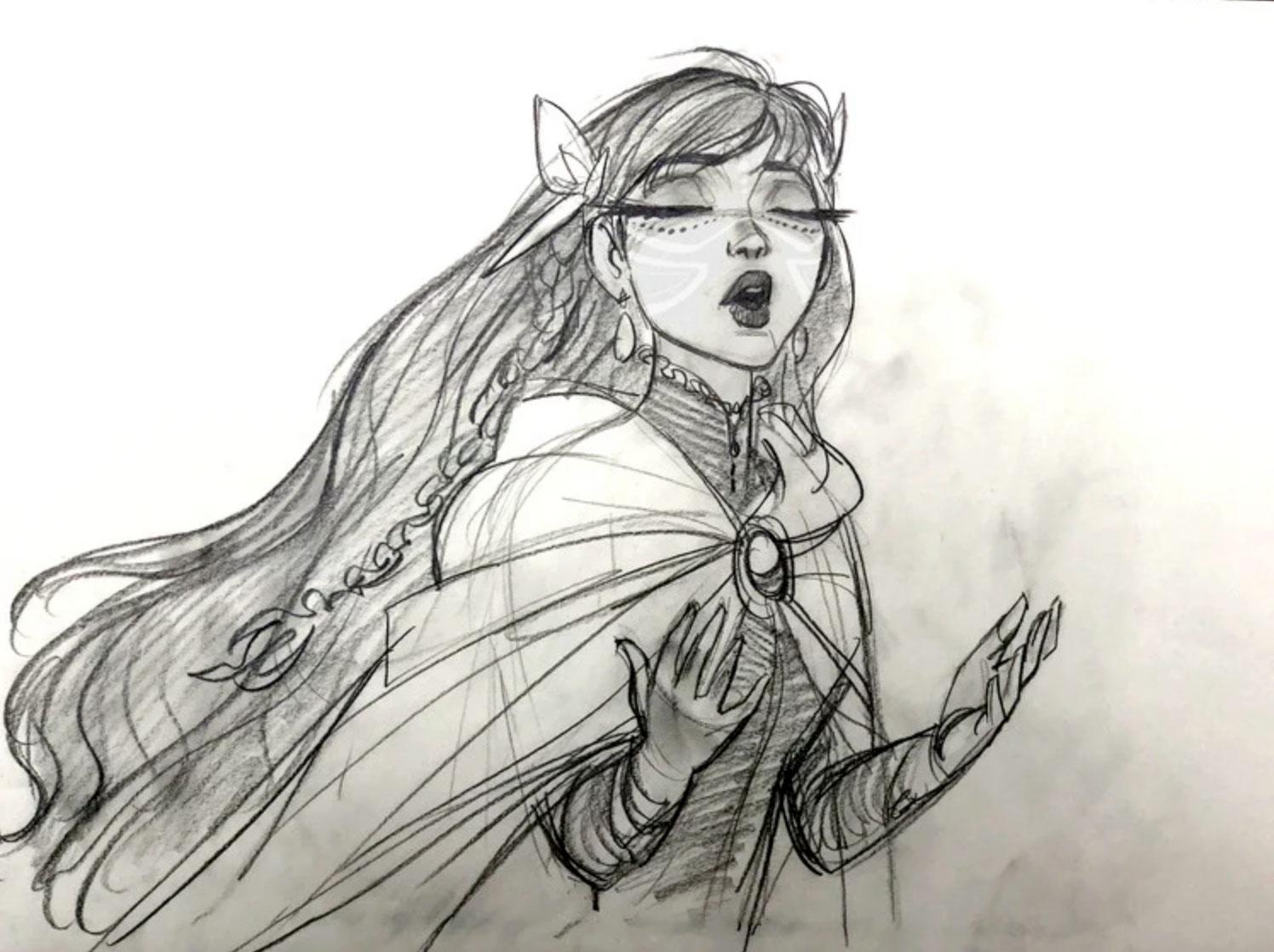 Arte conceptual para Belle por Jin Kim