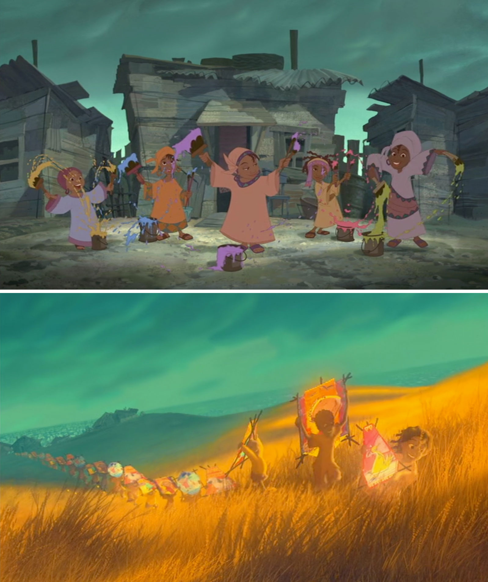 "Stills from ""One by One,"" a Disney short released in 2004"