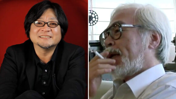 Mamoru Hosoda and Hayao Miyazaki