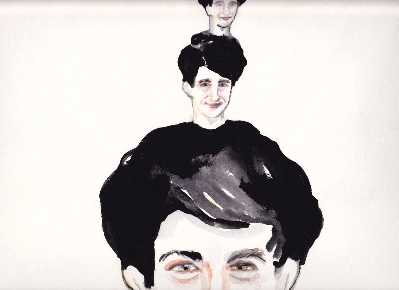 Portrait of Jacques Drouin by NFB colleague and friend Michèle Cournoyer.