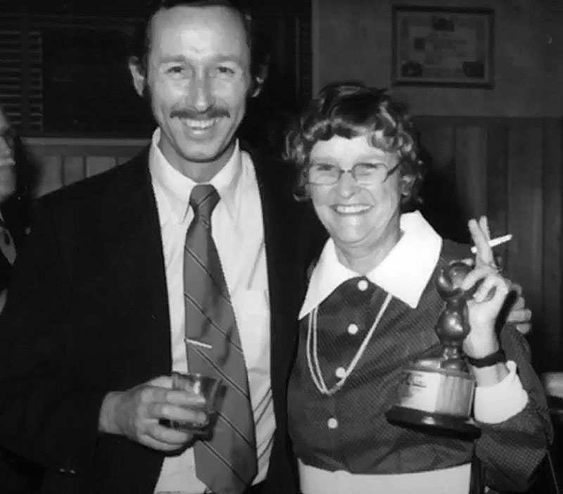 Ruthie Tompson and Roy E. Disney