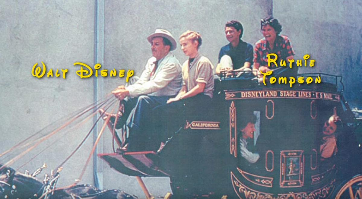 Ruthie Tompson and Walt Disney