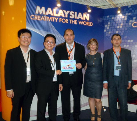 CAPTION: (L to R): Tan Chiang Loong, Executive Director of Ed-Online Technologies; Lee Chuen Loong, Executive Director of Ed-Online Technologies; Fethi Nedjari, Chief Executive Officer of Xeopex; Catherine Vernon, Representative of Xeopex; Charles Ballerait, Head of Development of Xeopex