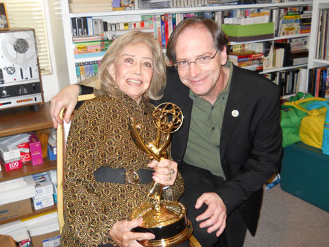 June Foray with her Emmy 6/27/12