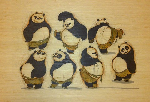 """Po-trait on Bamboo"""