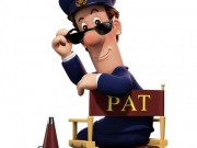 Postman Pat Movie on white