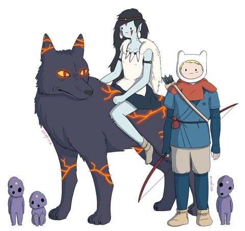 Adventure Time x  Ghibli
