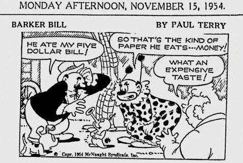 1950s cartoon strips