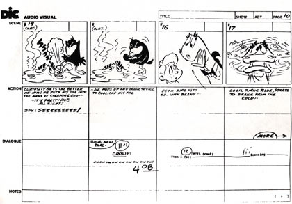 Beany and Cecil storyboard