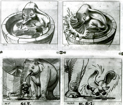 Dumbo boards by Bill Peet