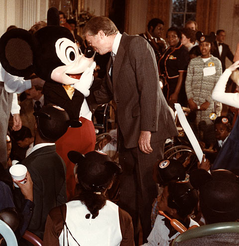 Jimmy Carter and Mickey Mouse