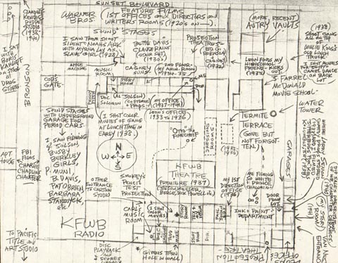Bob Clampett's Maps of Warner Bros. Cartoons Studios