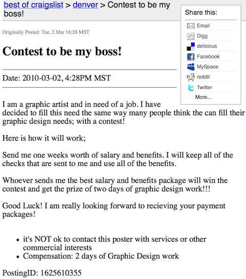 Craigslist Contest