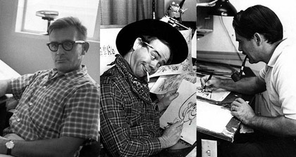 Tom Oreb, Ward Kimball and Walt Peregoy