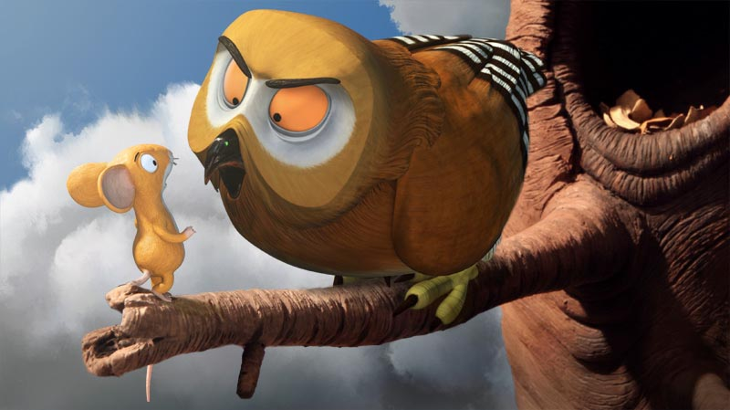 The Gruffalo, Mouse meets Owl