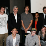 Student winners of the NBR Award: (Back Row, L-R) Bernardo Britto; John Canemaker, professor and Head of the Animation Program; Seiju M Einarsen; Mary Schmidt Campbell, dean of the Tisch School of the Arts; Matt Christensen; (Front Row, L-R) John W Xiao; Jacob Kafka; and Jennifer R Paehr.