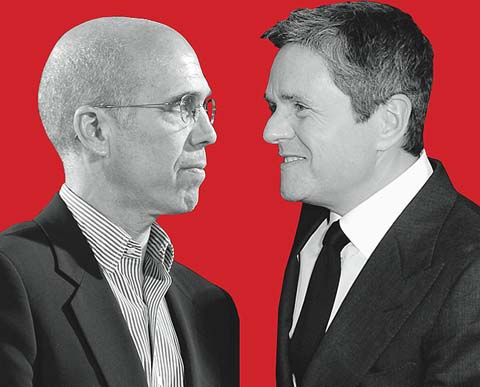 Jeffrey Katzenberg and Brad Grey