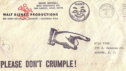 Ward Kimball letter