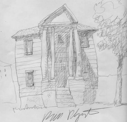 Winsor McCay's Home drawn by Bill Plympton