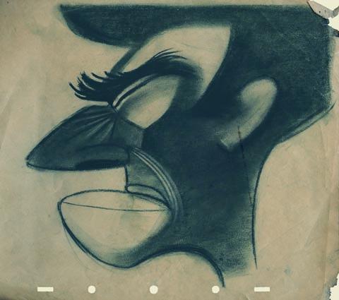 Drawing of Bob McIntosh by John Hubley