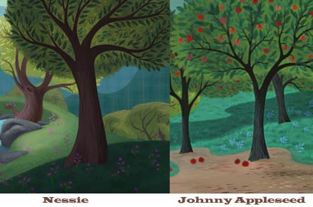 Nessie and Johnny Appleseed