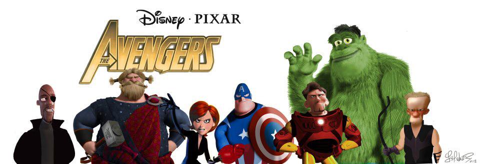 Inilah Pose Para Tokoh Kartun Pixar Saat Menjadi Avengers